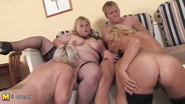 MILF alemana de grandes tetas en un ver peliculas porno en latino casting femenino con una pareja joven